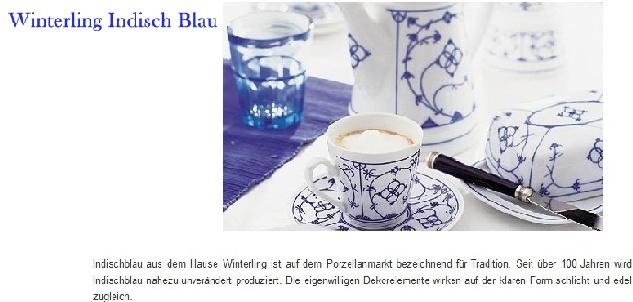 winterling porzellan indisch blau porzellanholsten. Black Bedroom Furniture Sets. Home Design Ideas