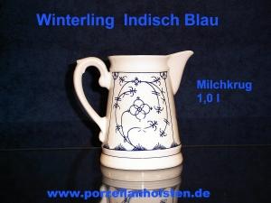 winterling porzellan indisch blau milchkrug porzellanholsten. Black Bedroom Furniture Sets. Home Design Ideas