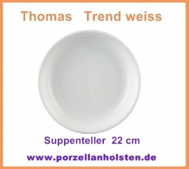 thomas trend weiss suppenteller porzellanholsten. Black Bedroom Furniture Sets. Home Design Ideas